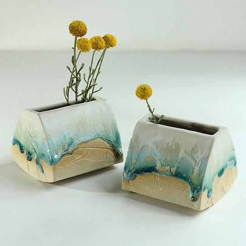 Ceramic Rocking Pot Planter by Helen Rebecca Ceramics