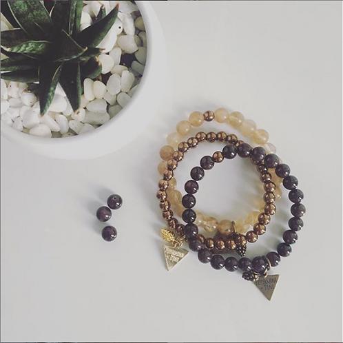 Peppermint + Pine Gemstone Bracelets