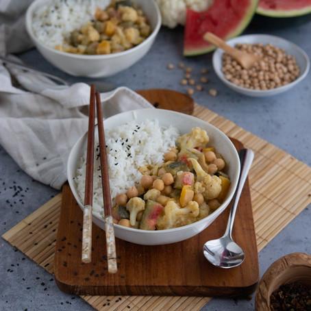 Gelbes Curry mit Wassermelonenschale 🌱🌱