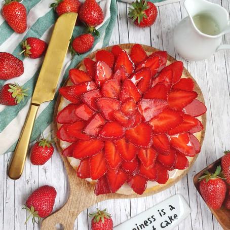 Erdbeerkuchen (Fruchtboden) 🌱
