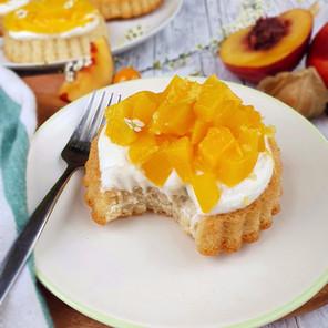 Pfirsich Quark Tartelettes 🌱