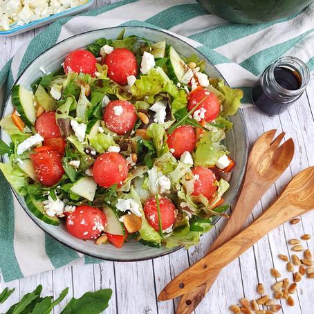 Sommersalat mit Melone und Feta 🌱