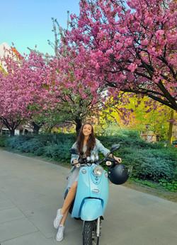 Mein blauer Roller und ich