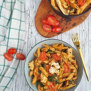 Onepot Tomaten-Spinat Pasta 🌱