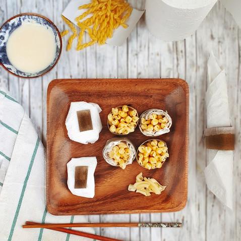 Klopapier Sushi mit Nudelfüllung 🌱🌱