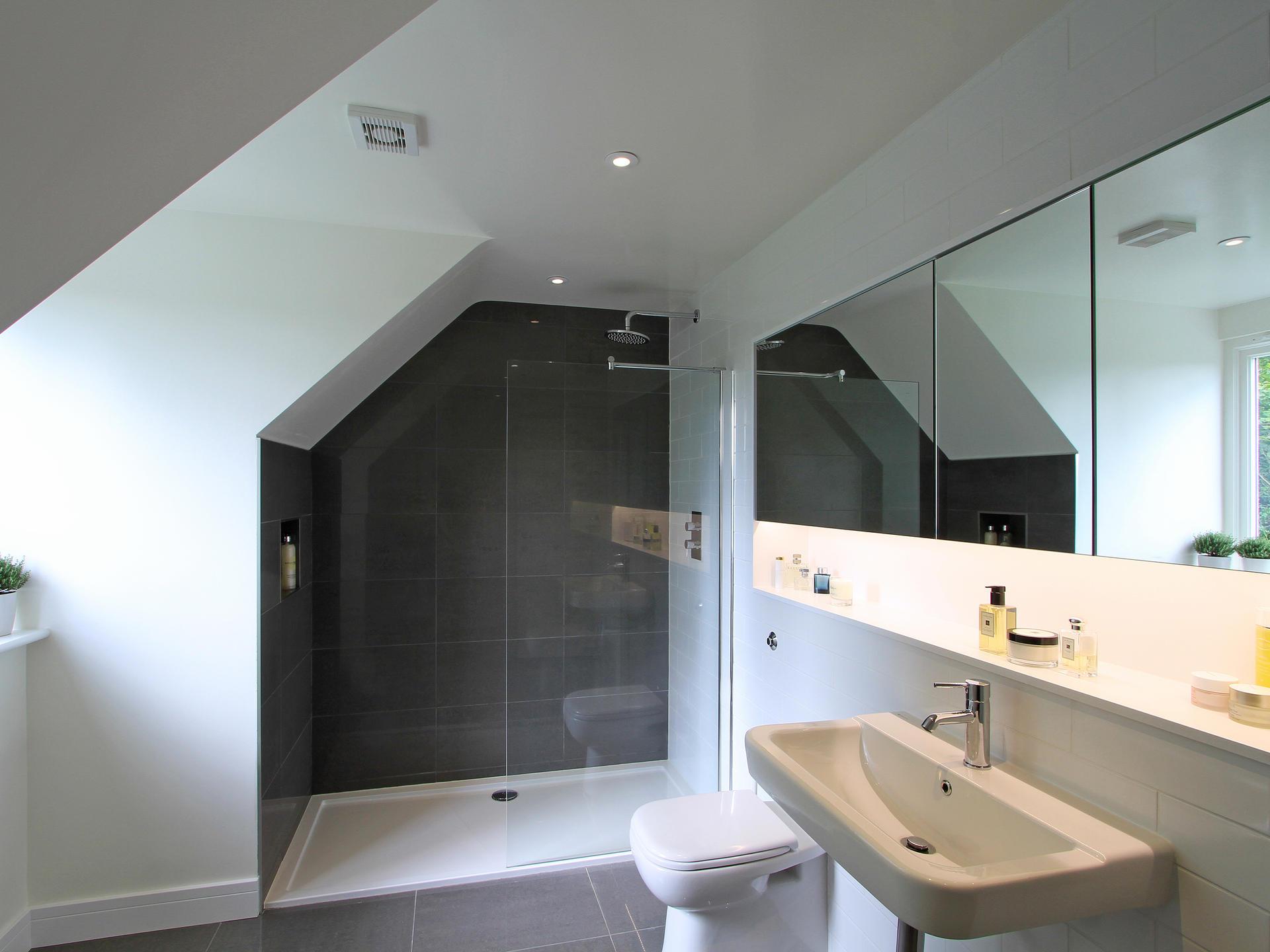 Modern bathroom extension in Surrey