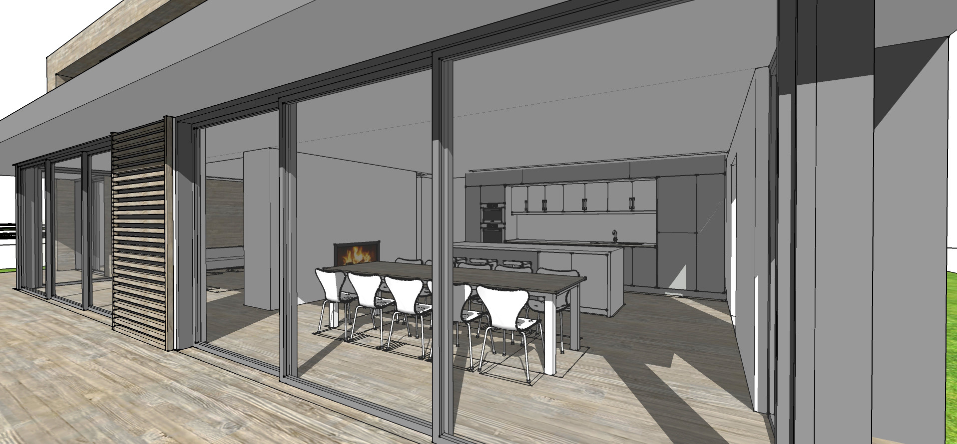 Architectural sketch design 3D model in Haslemere