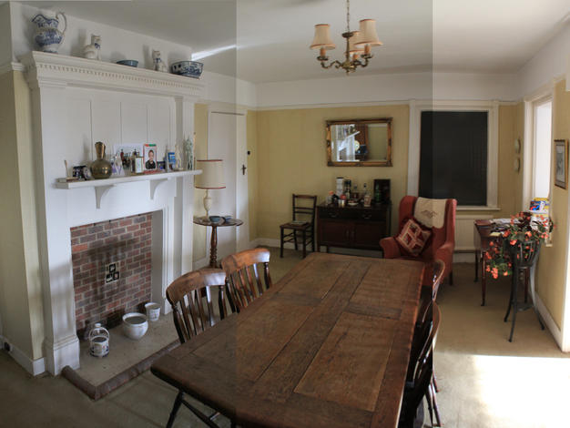 Before renovation living room in Haslemere