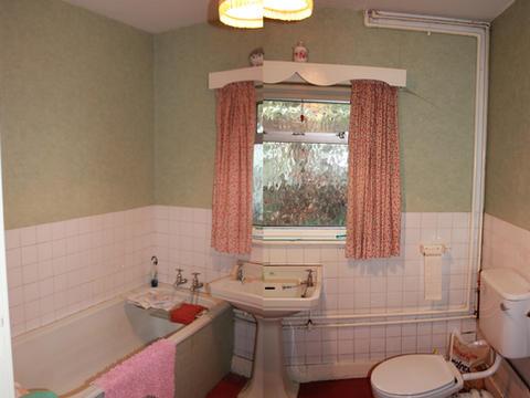 Before renovation bathroom in Surrey