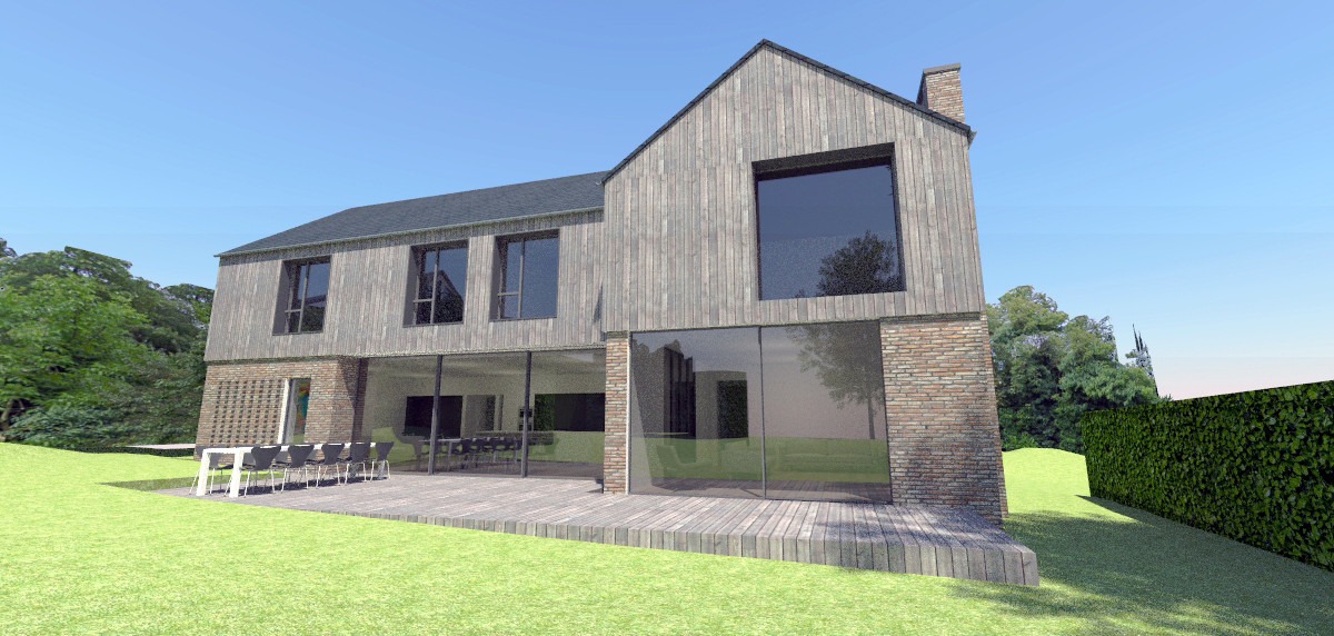 Haslemere contemporary house design 3D