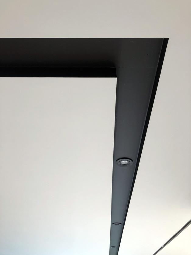 black light slot detail modern house in Surrey