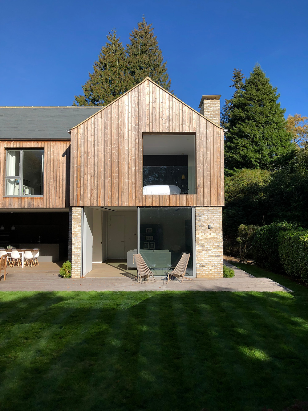 Modern architecture timber cladding in Haslemere, Surrey