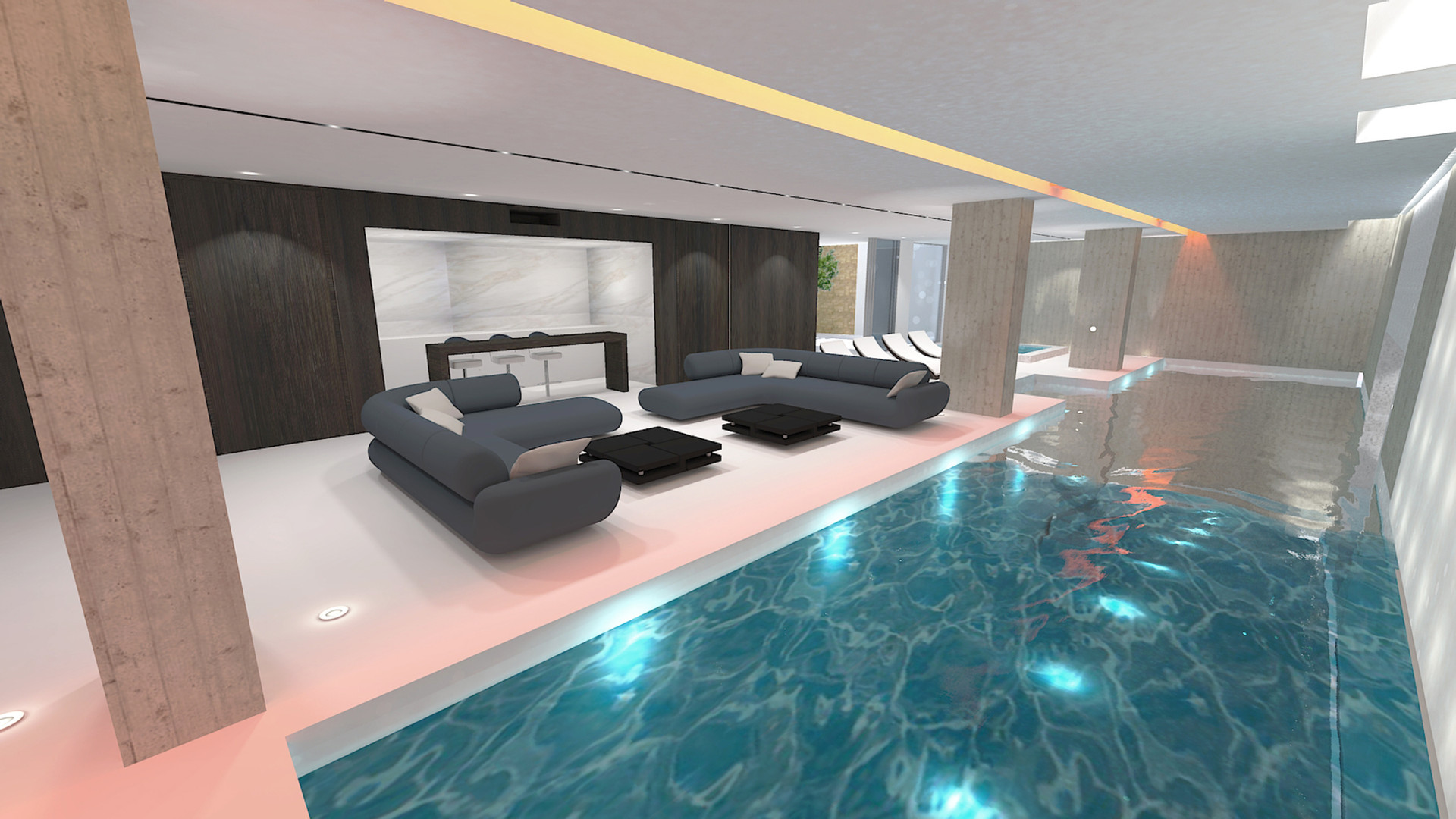 Swimming pool visualisation 3D