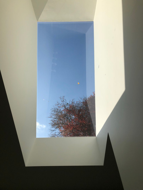 Contemporary architecture with frameless rooflight in Surrey