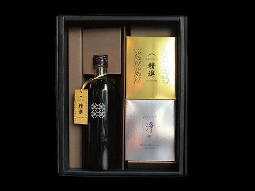 「精進アイスボトル」&「精進&浄め」 箱入りセット(720ml×1本&5個入り×2種)