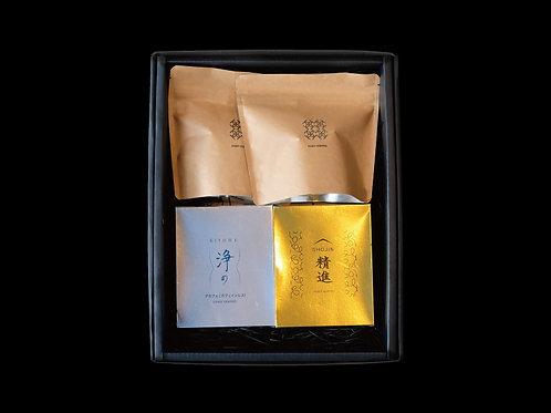 「精進&浄め」箱入り&COZYドリップパックセット(5個入り×2種&5個入り×2種)