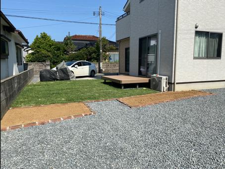 外構・お庭の工事完成