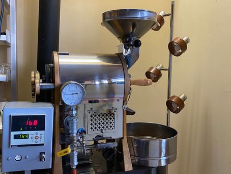 コーヒー豆焙煎の朝