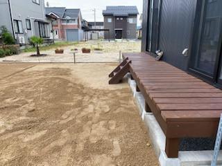 外構・お庭の工事 着工中