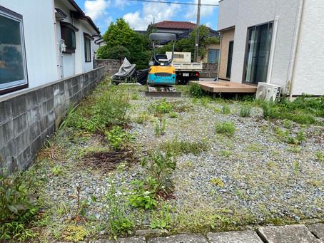 外構 お庭の工事着工