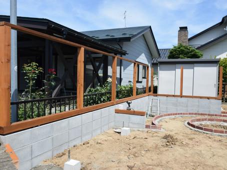 お庭の工事