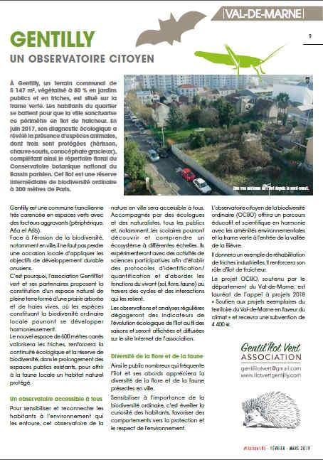 Mars 2019 article / Liaison FNE