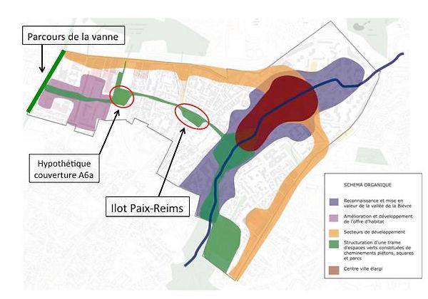 Schéma organique du PLU-PADD de Gentilly