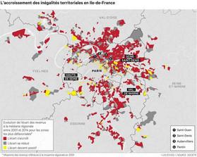 Accroissement inégalités territoriales