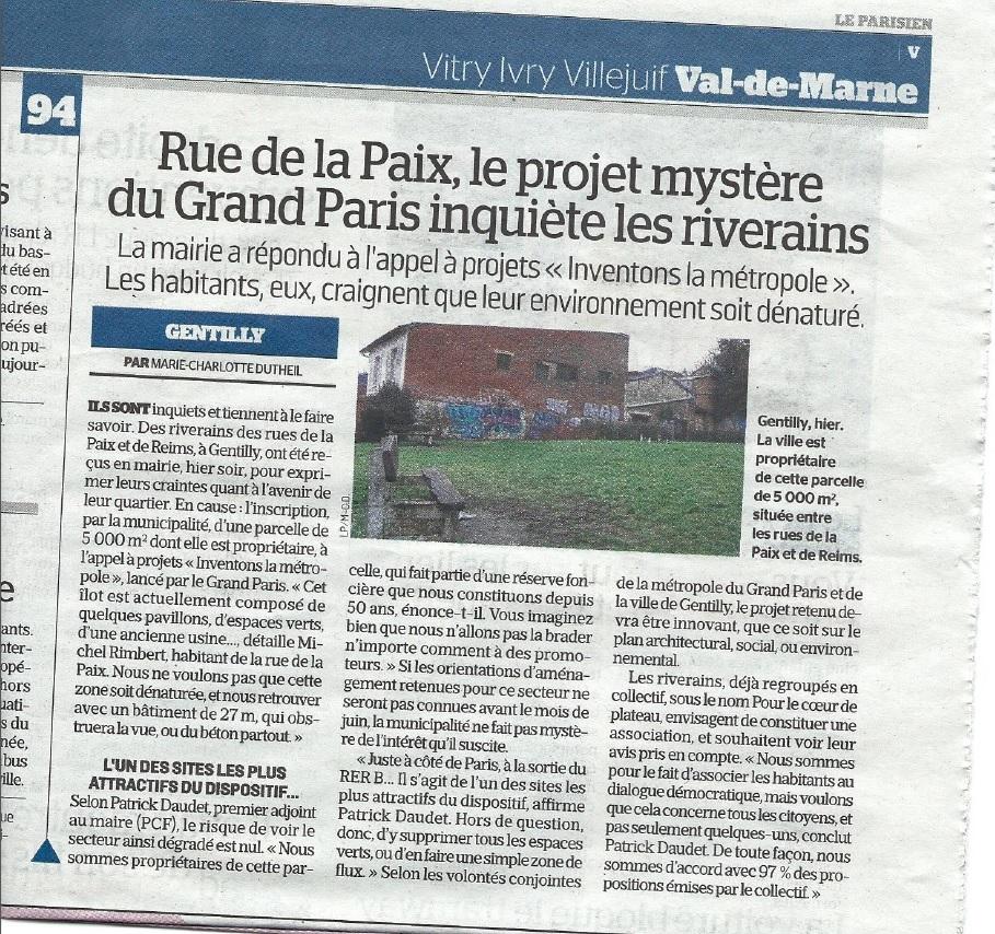 Article du Parisien 12 janv 2017