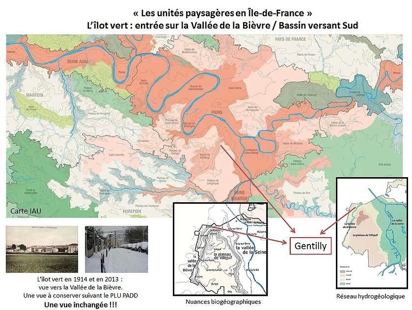 Les unités paysagères en Ile de France