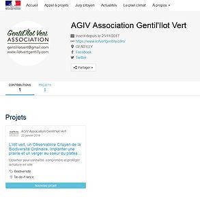 Mon projet pour la Planète, Projet OCBO, Agiv, Gentilly