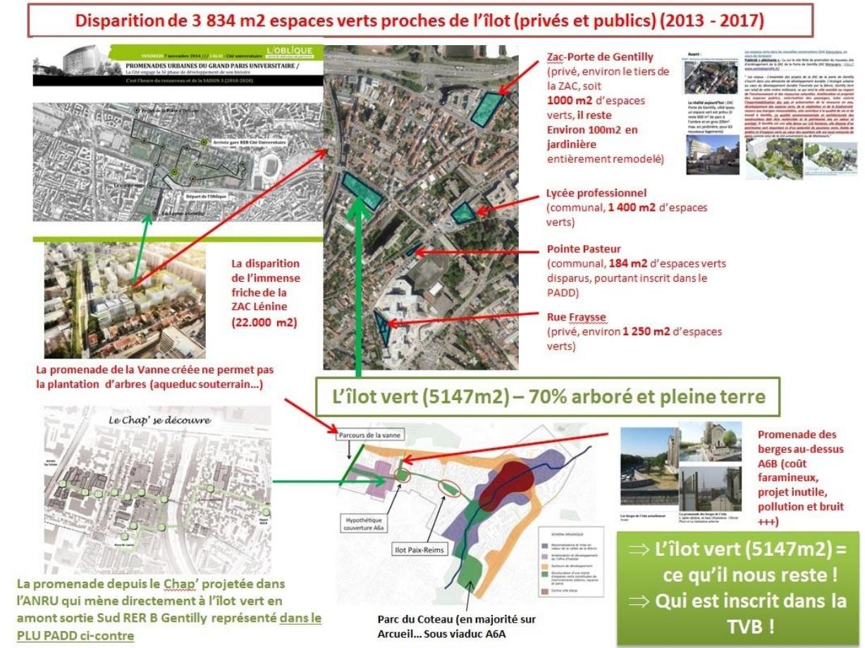 Disparition des espaces verts