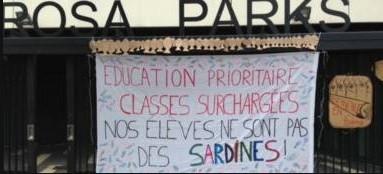 Collège Rosa Parks en grève