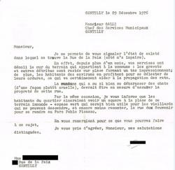 Lettre 1976