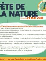 Programme de la Fête de la Nature 2021 sur l'îlot vert de Gentilly