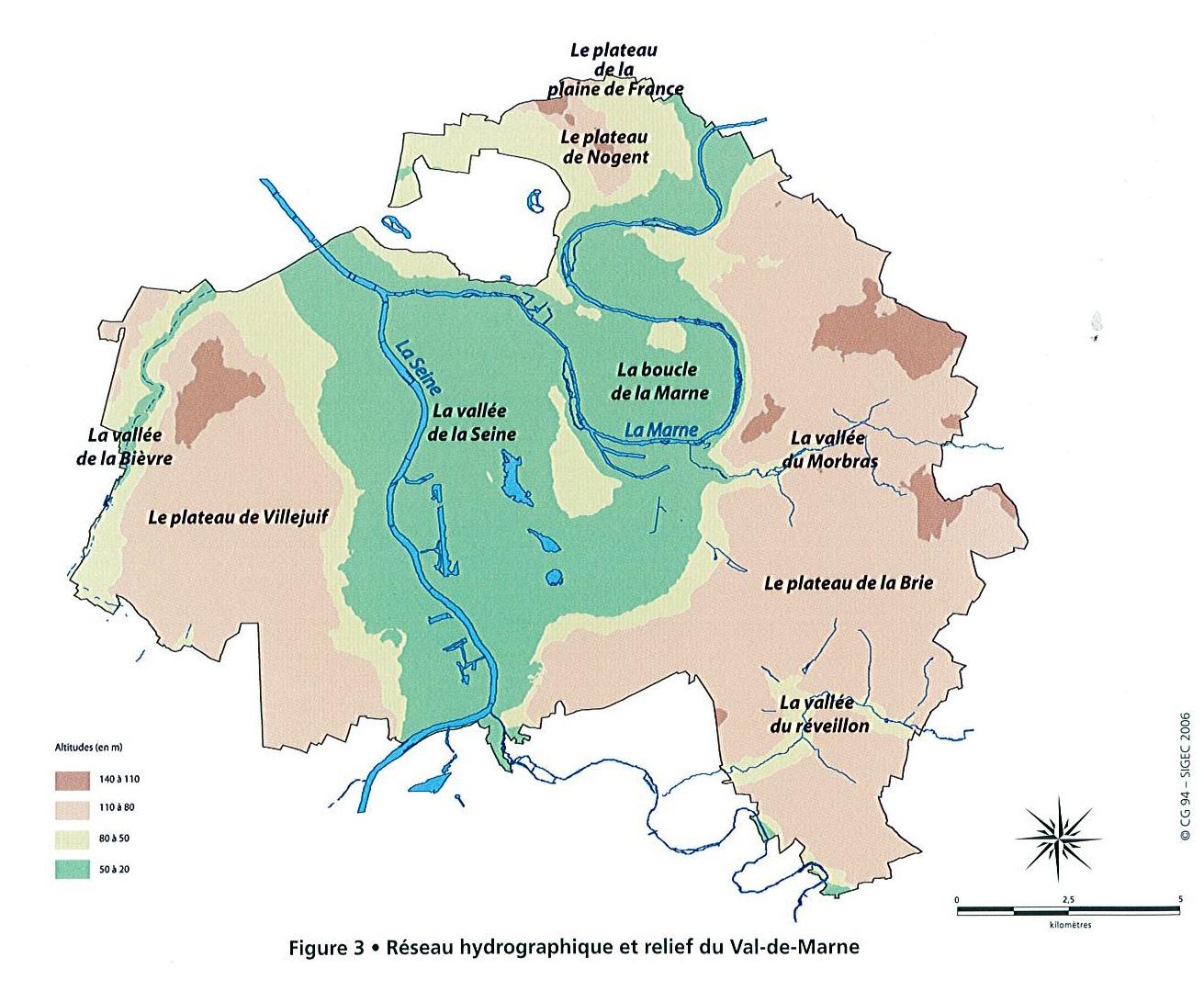 Réseau hydrogéologique et relief