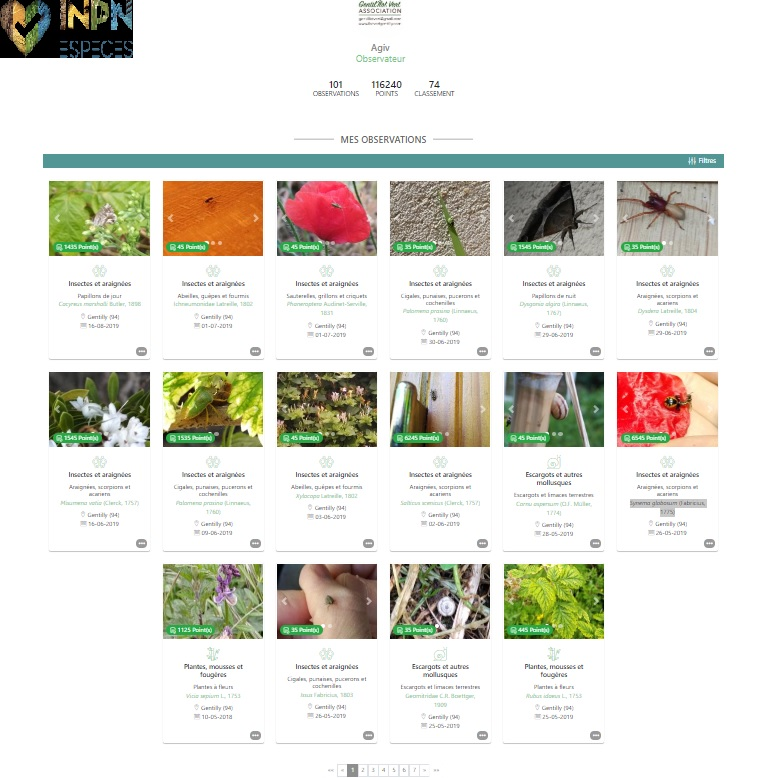 Collection sur le site de l'INPN