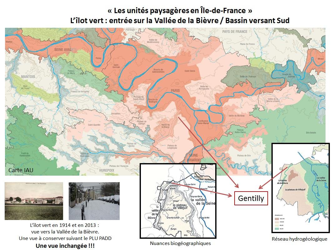 Unités paysagères en Ile de France