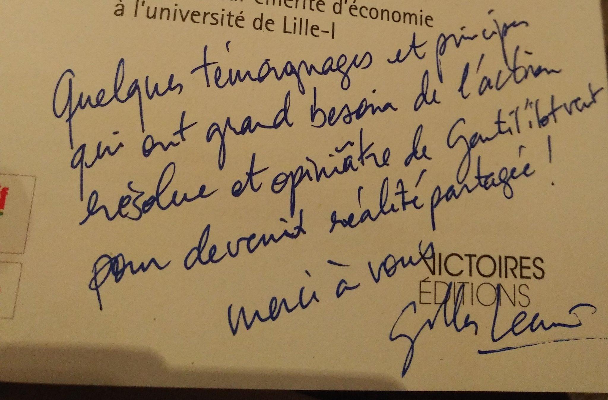 Dédicace de G. Lecuir