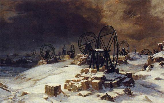 Paysage Gentilly 1849