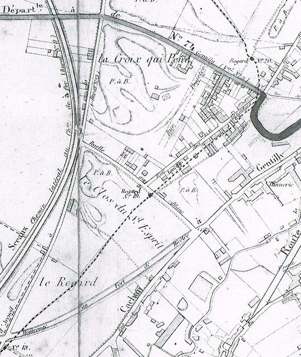 Détail plan 1885 : Clos du St Esprit