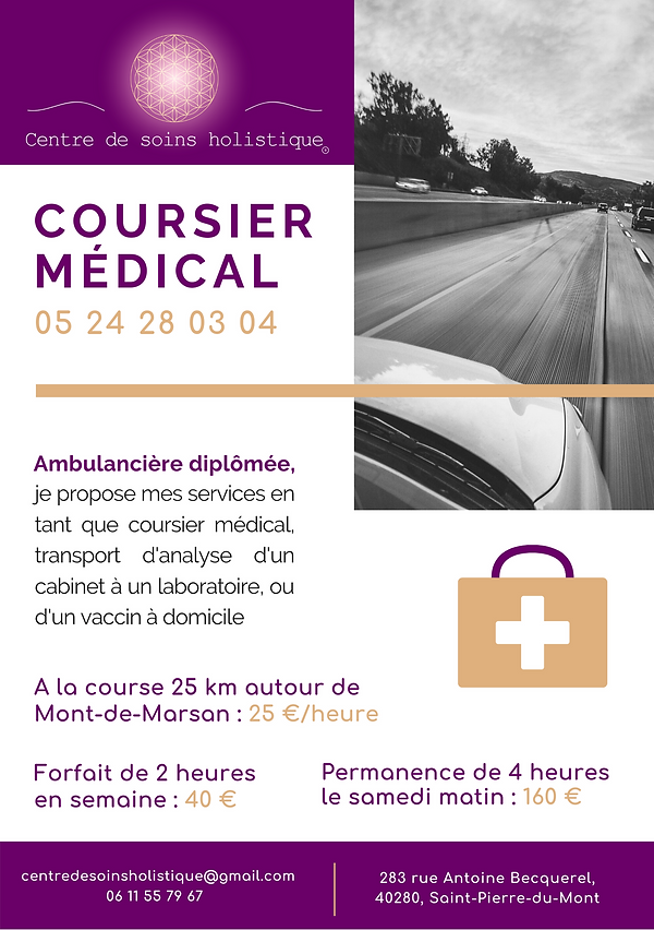 flyer coursier médical magali justes