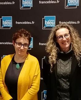 Magali Justes et Nathalie Benoy à la radio France Bleu Gascogne