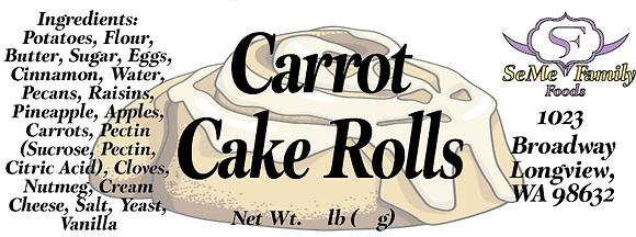 Carrot Cake Rolls