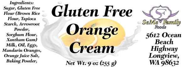 Gluten Free Orange Cream