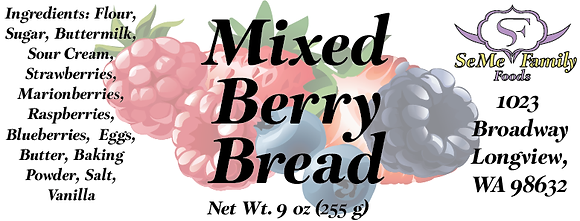 Mixed Berry Bread