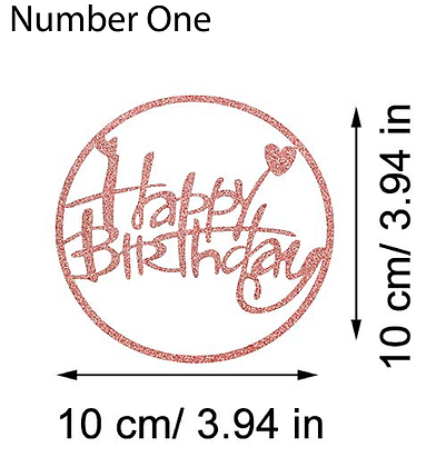 Colored Happy Birthday Cake Toppers
