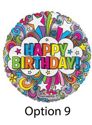 Single Mylar Birthday Balloons
