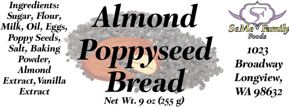 Almond Poppyseed Bread