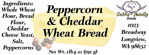 Peppercorn and Cheddar Wheat
